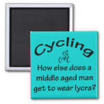 Cycling Man 2 Inch Square Magnet