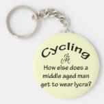 Cycling Man Keychains