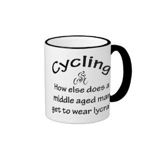 Cycling Man Ringer Coffee Mug