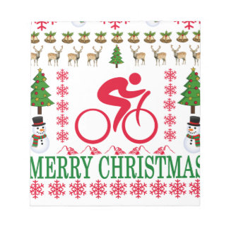 CYCLING MERRY CHRISTMAS . NOTEPAD