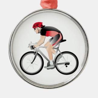 Cycling Metal Ornament