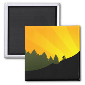 cycling : mountain rayz : 2 inch square magnet