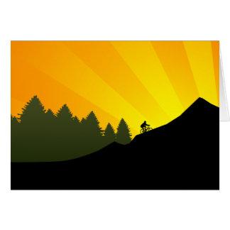 cycling : mountain rayz : greeting card