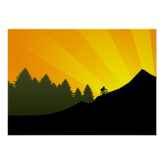 cycling : mountain rayz : poster