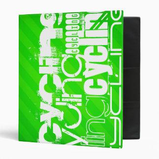 Cycling; Neon Green Stripes Binder