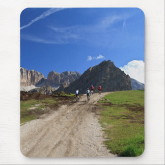 cycling on Dolomites Mouse Pad