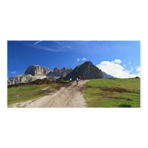 cycling on Dolomites Photo Cards