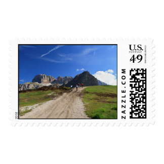 cycling on Dolomites Stamp
