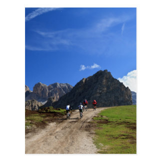 cycling on Dolomites Postcard