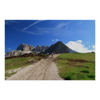 cycling on Dolomites Print