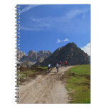 cycling on Dolomites Spiral Note Book