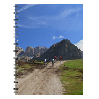 cycling on Dolomites Spiral Notebook