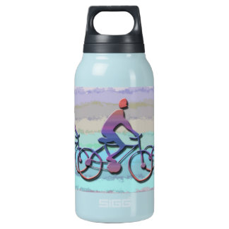 CYCLING PATTERN INSULATED WATER BOTTLE