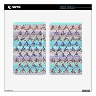 CYCLING PATTERN KINDLE FIRE DECALS