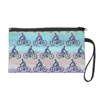 CYCLING PATTERN WRISTLET PURSE