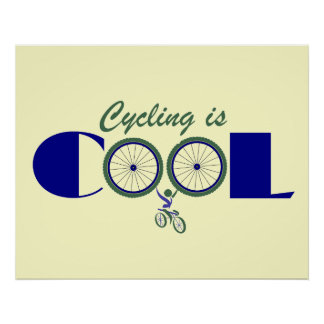 Cycling Poster Print