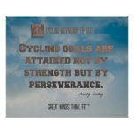 Cycling Poster with Blue Sky and Quote 007