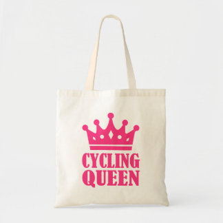 Cycling queen champion budget tote bag