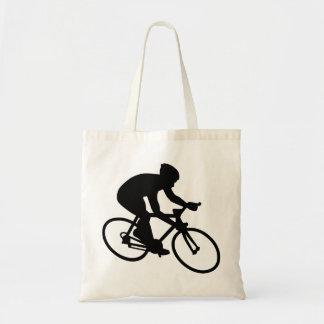 Cycling race budget tote bag