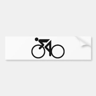 cycling racing bicycle bumper sticker