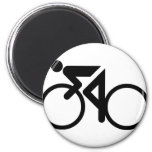 cycling racing bicycle fridge magnet