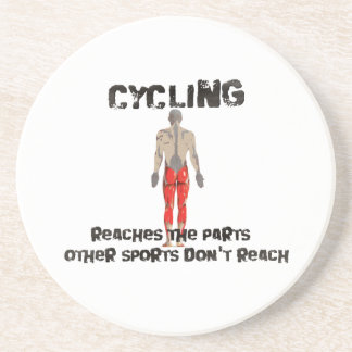 Cycling reaches the parts other sports don't reach drink coaster