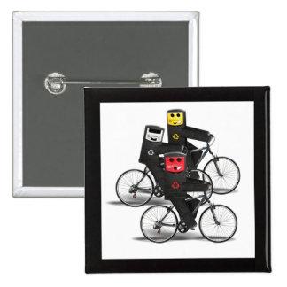 Cycling Recycle Bins Pinback Button