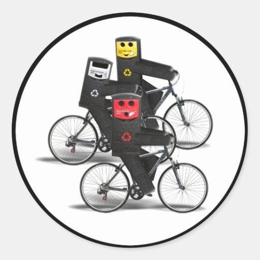 Cycling Recycle Bins Sticker
