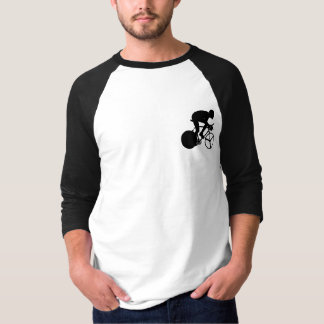 Cycling rider black and white silhouette T-Shirt