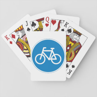 Cycling Road Sign Playing Cards