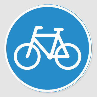 Cycling Road Sign Stickers