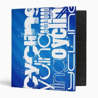 Cycling; Royal Blue Stripes Vinyl Binders