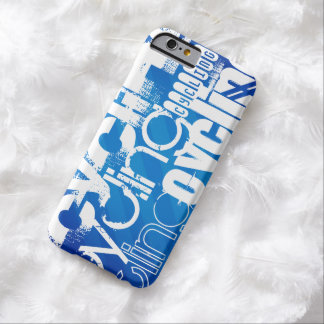 Cycling; Royal Blue Stripes Barely There iPhone 6 Case