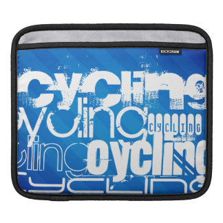 Cycling; Royal Blue Stripes Sleeve For iPads