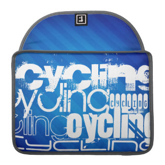Cycling; Royal Blue Stripes MacBook Pro Sleeve