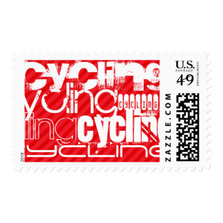 Cycling; Scarlet Red Stripes Postage
