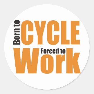 cycling shirt classic round sticker
