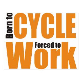 cycling shirt postcard