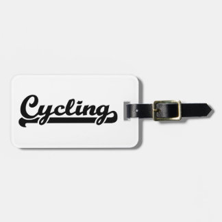 Cycling sports travel bag tag