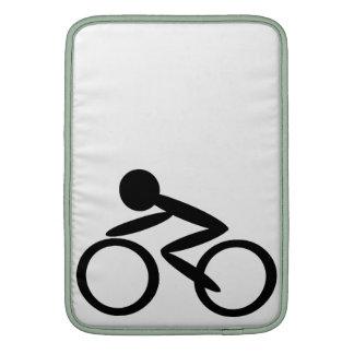 Cycling Stick Figure MacBook Sleeve