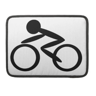 Cycling Stick Figure Sleeve For MacBook Pro