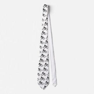 Cycling Stick Figure Tie