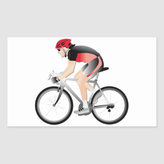 Cycling Rectangle Stickers