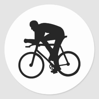 Cycling Round Stickers