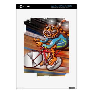Cycling Tiger Decal For iPad 3