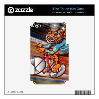 Cycling Tiger Decals For iPod Touch 4G