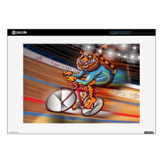 Cycling Tiger Laptop Decals