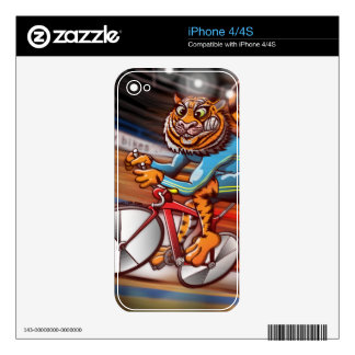 Cycling Tiger Skins For iPhone 4S
