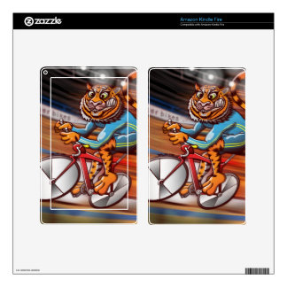 Cycling Tiger Skins For Kindle Fire