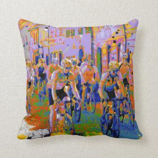 Cycling Tour De France Arty Pillow